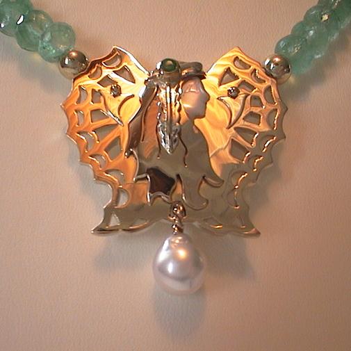 18k, emerald, pearl