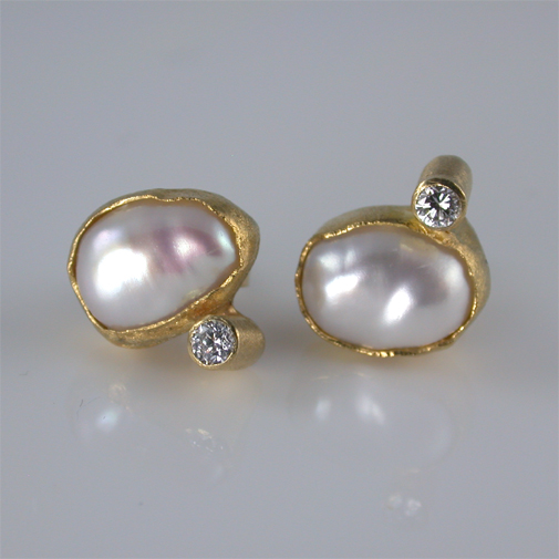 18k, pearl, twvvs diamond