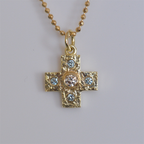 Cross: 18k, diamonds by Susanne Lanng - Gl. Skagen
