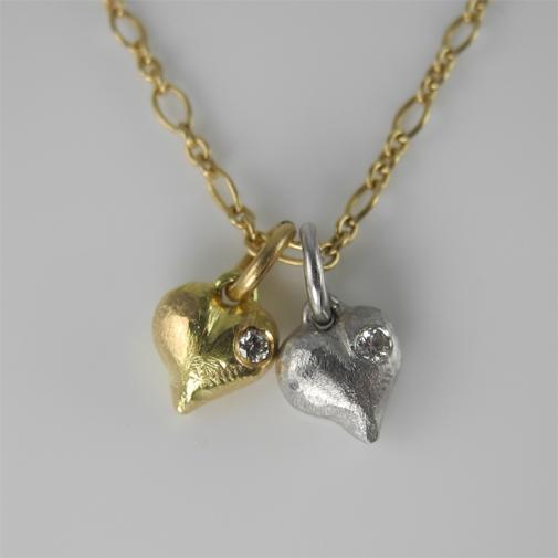 """Heart of Skagen"": 18k, twvvs diamond"
